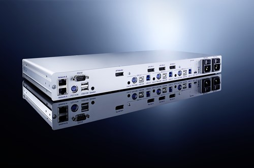 The KVM switch DP1.2-MUX3-ATC enables extremely fast switching between computers.