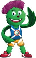 Clyde the Mascot Commonwelath Games 2014