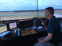 New air traffic control tower at the Region of Waterloo International Airport