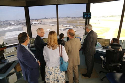 Next to receiving a full overview of NAV and TAP's involvement in CEF co-funded projects, the delegation visited the Lisbon ACC Operation Room and Lisbon Airport Control Tower.