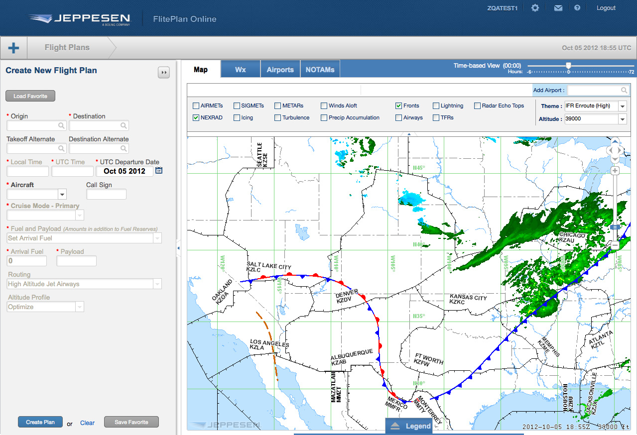 New jeppesen fliteplan online solution offers simplified for Planning on line
